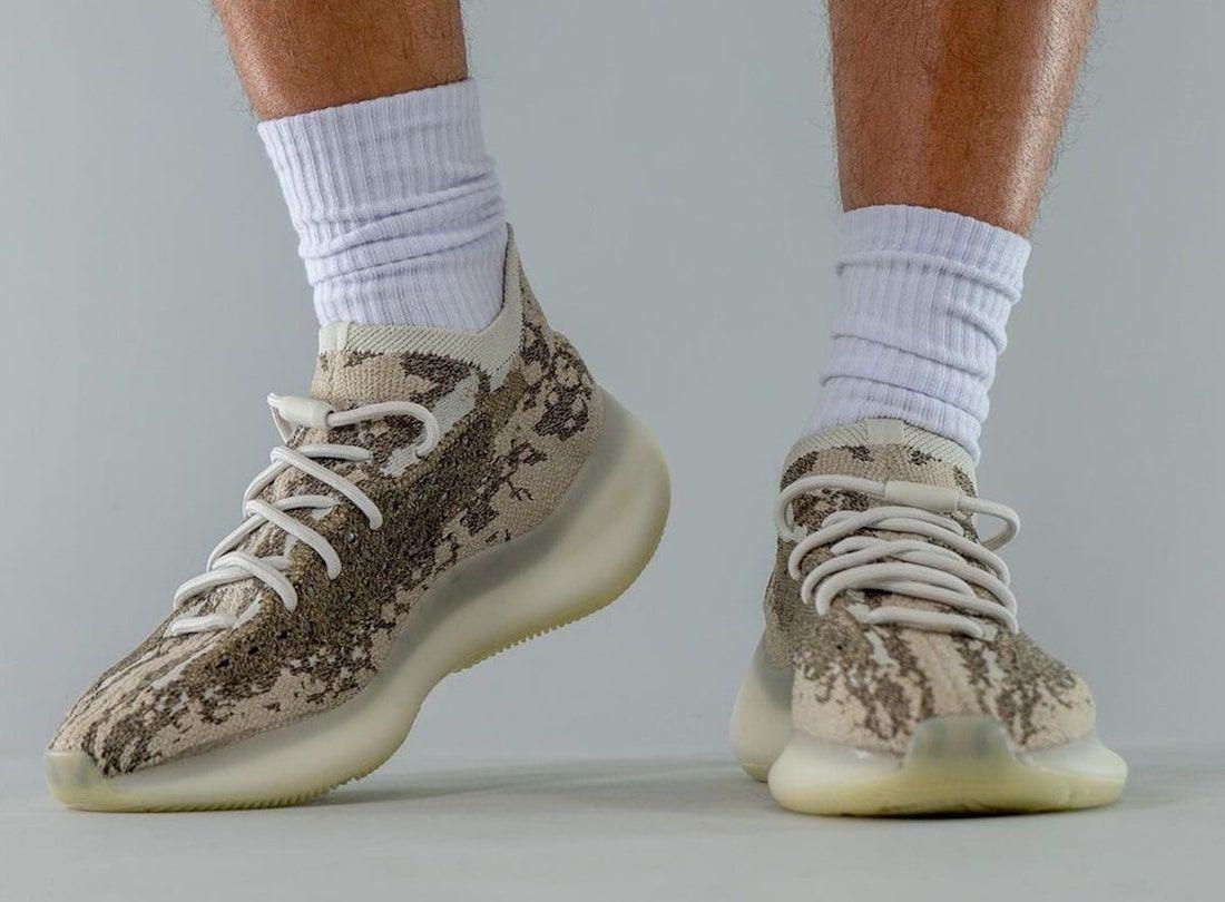 On-Foot: adidas Yeezy BOOST 380 'Stone Salt'