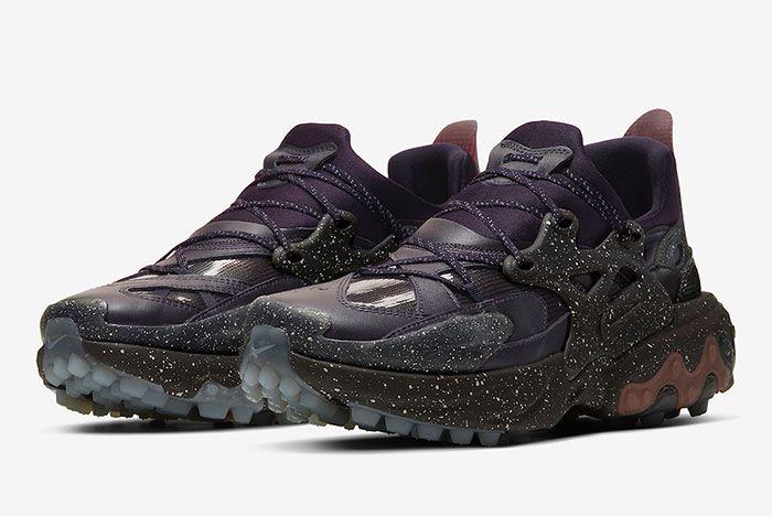 Undercover Nike React Presto Purple Three Quarter Lateral Side Shot