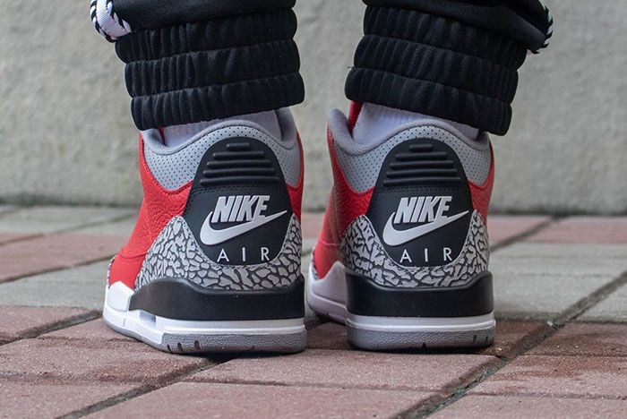 Air Jordan 3 Cement Red Fire Red All Star On Foot2