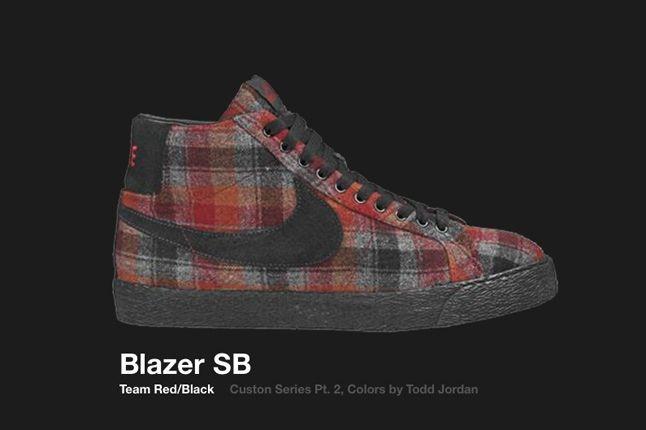 Nike Blazer Sb Team Red Custom Series 2006 1