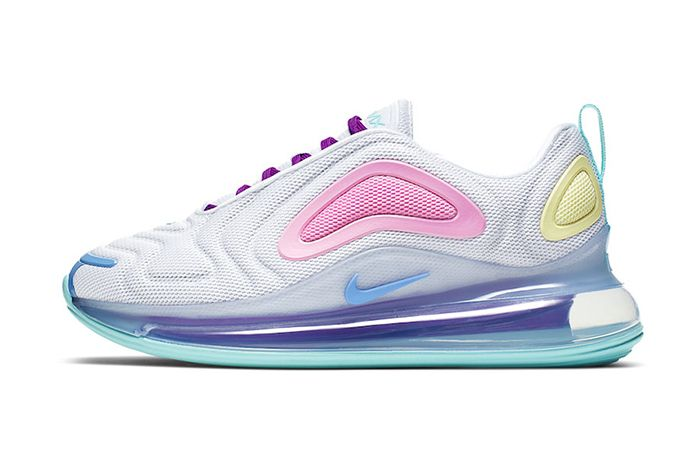 Nike Air Max 720 White Light Aqua Psychic Powder Ar9293 102 Release Date Lateral