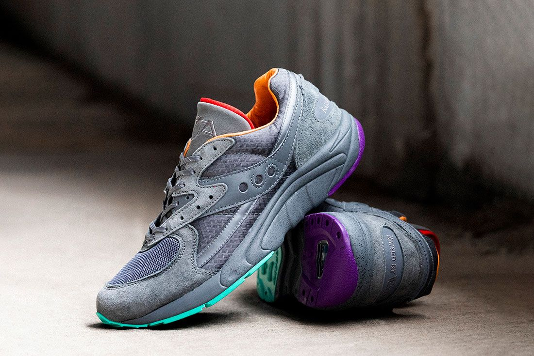 Raised By Wolves Saucony Aya Grey Stacked