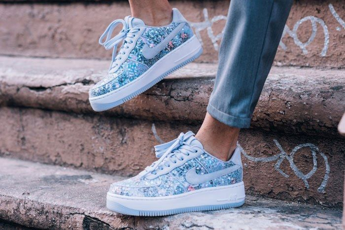 Air Force 1 Upstep Low Glass Slipper 01