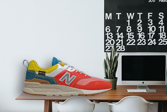 New Balance 997H Spring Hike Trail Neo Flame Blue Yellow Desk