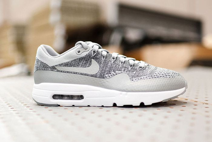 Nike Air Max 1 Flyknit Wolf Grey 1