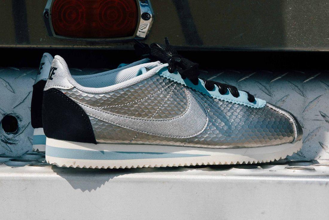 Nike Cortez Womens Metallic Silver 6