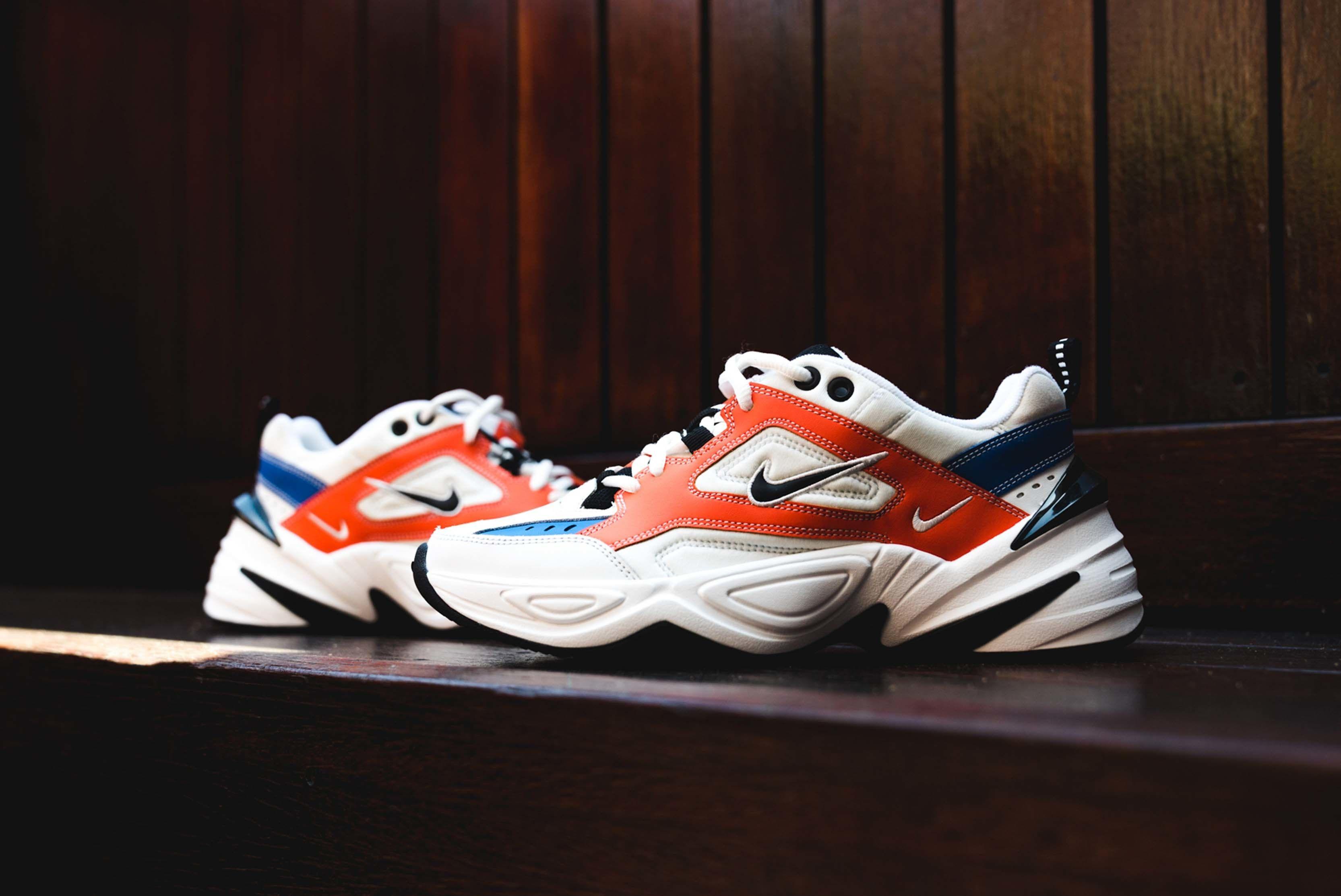 Nike M2K Tekno On Foot White Red Blue Black 4 Sneaker Freaker