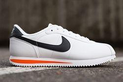 Thumbnike Cortez Basic Leather White Wlack Orange1