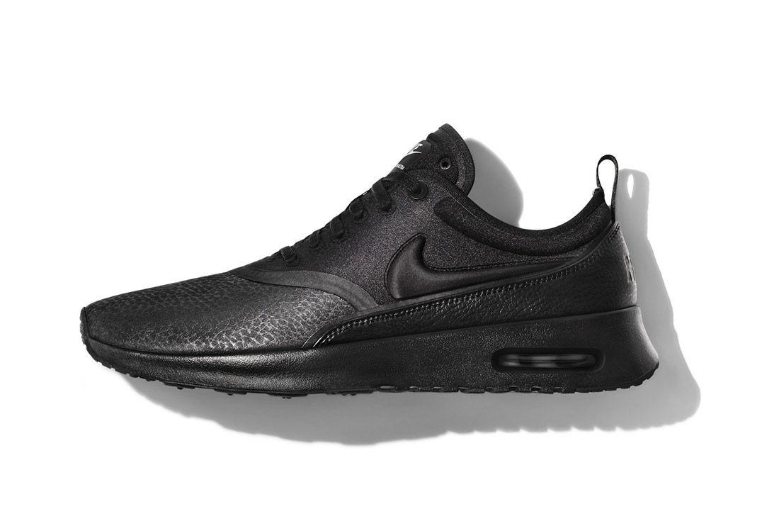 Nike Beautiful Powerful Black Leather Air Max Thea