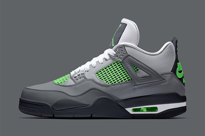Air Jordan 4 Neon Air Max Day 2020 First Look Release Date Lateral Mockup