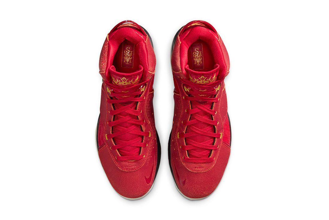 nike lebron 8 gym red on white