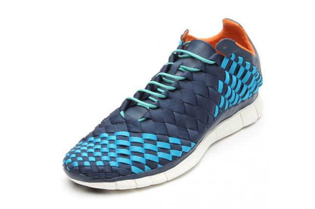 Nike Free Inneva Woven Spring 2013 Blue Quarter 2