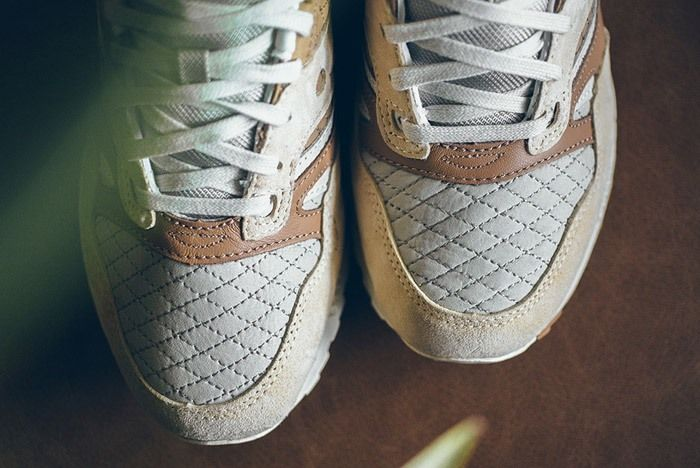 Saucony Grid Sd Quilted Tan Grey 3