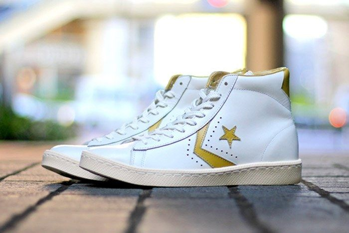 Converse Pro Leather White Gold 2