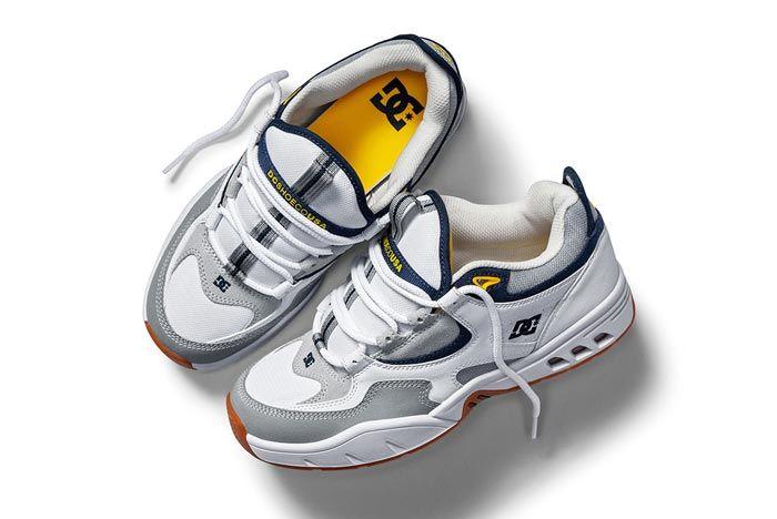 Dc Shoes Kalis Og White Grey Blue Pair 2