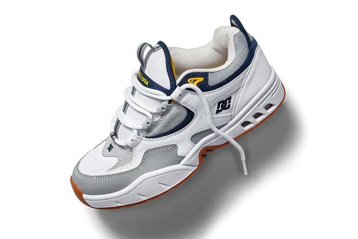 Dc Shoes Kalis Og White Grey Blue Lateral