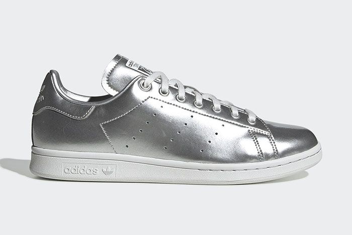 Adidas Stan Smith Silver Metal Fv4300 Lateral