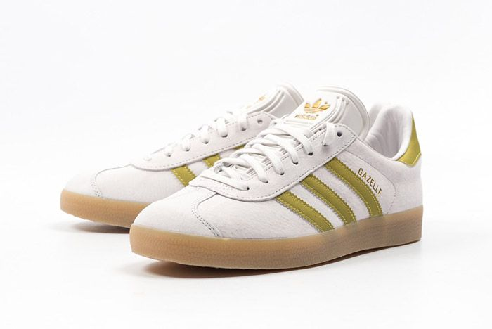 Adidas Gazelle White Gold Gum 2
