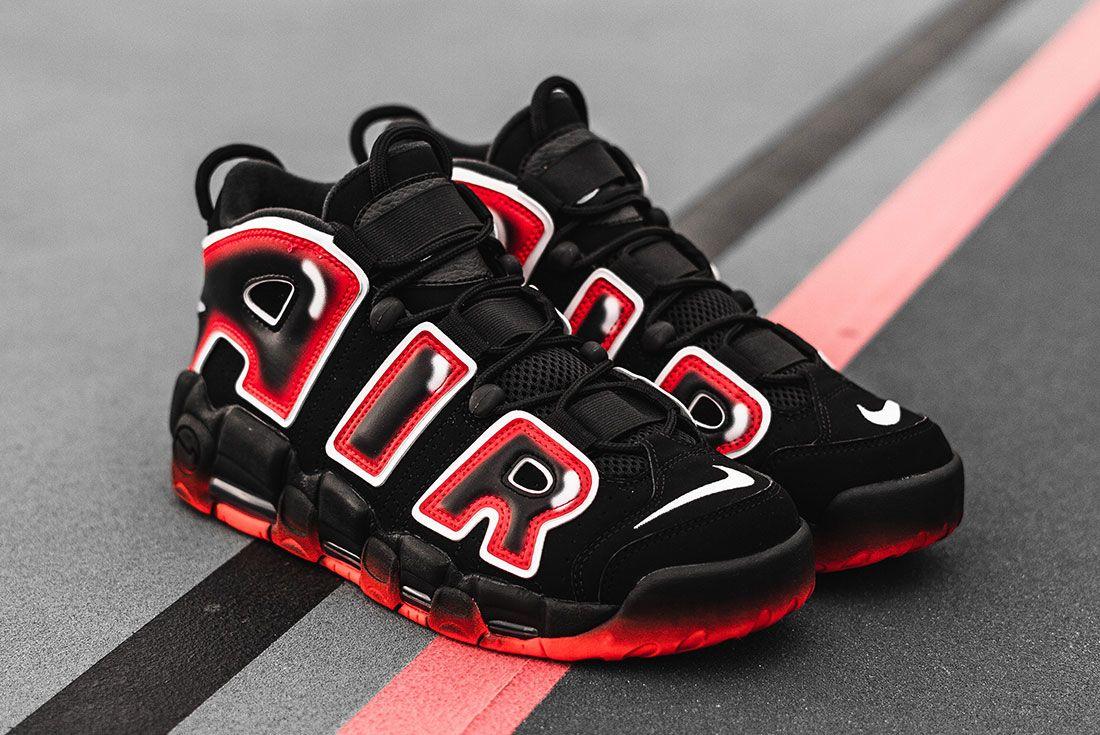 Nike Air More Uptempo 96 Laser Crimson 1