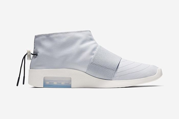 Nike Air Fear Of God Moccasin Official Pure Platinum Release Date Medial