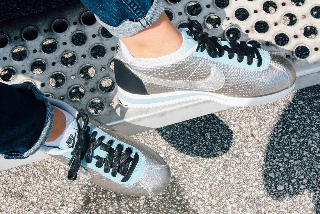 Nike Cortez Womens Metallic Silver 3