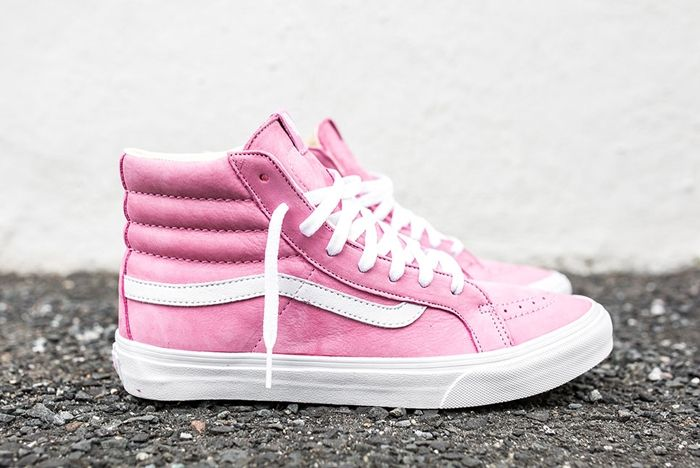 Vans Year Of The Monkey Sk8 Hi Slim Pink Leather 1