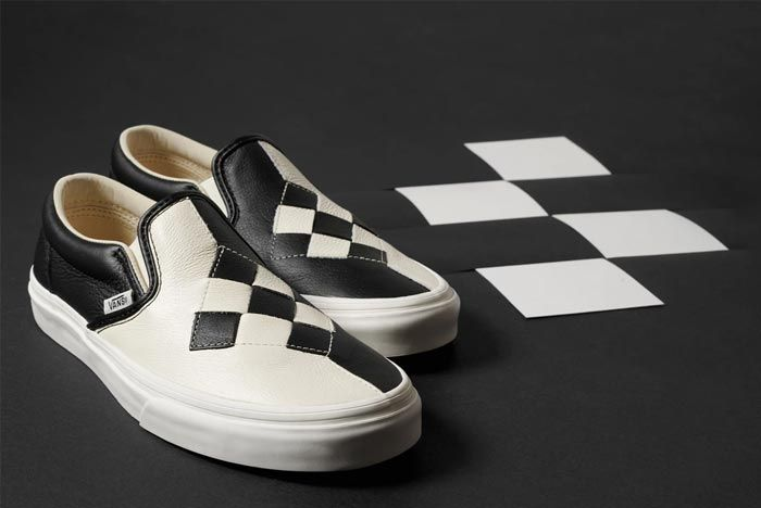 Vans Slip On Woven Checkerboard Pair