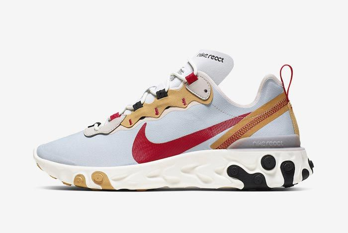 Nike React Element 55 Desert Sand Lateral