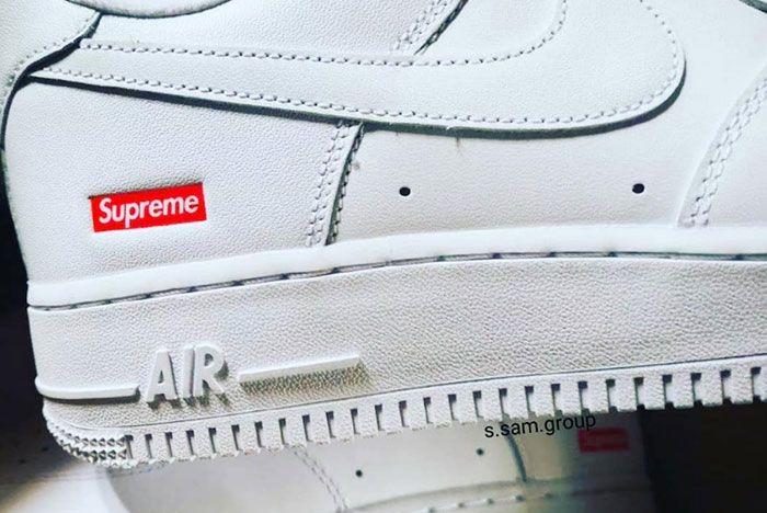 Supreme Nike Air Force 1 White Leak