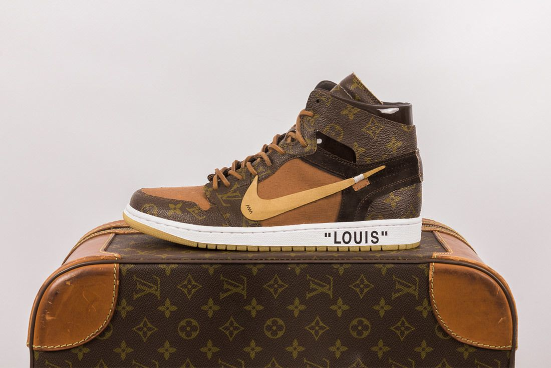 Off White X Louis Vuitton Off Louis Air Jordan 1 Custom 9