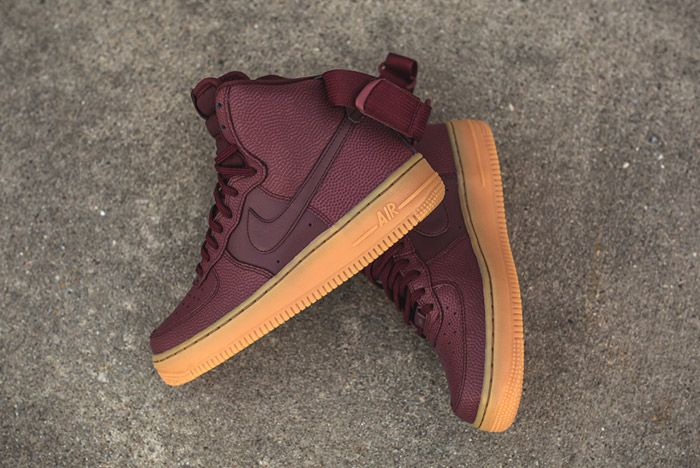 Nike Air Force 1 High Night Maroon Womens 4