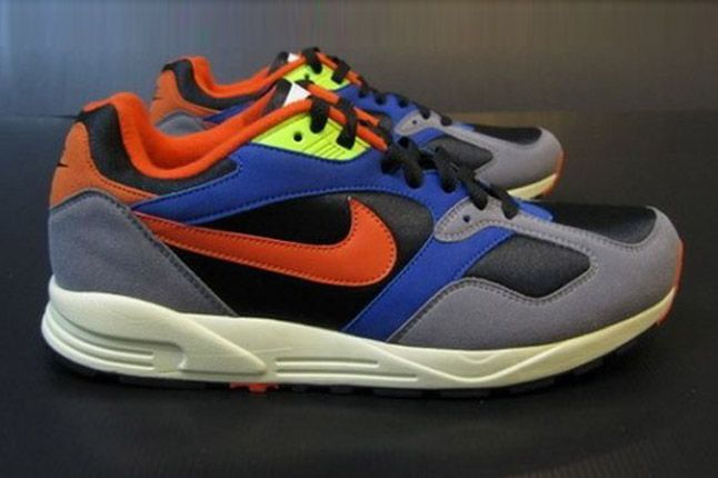 Nike Air Base Ii 2013 Blue Grey Orange Black Profile 1