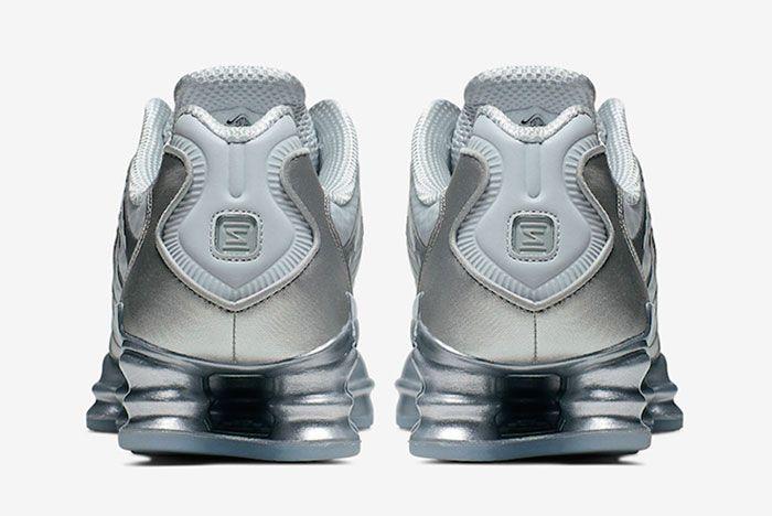 Nike Shox Tl Pure Platinum Chrome Av3595 003 Rear