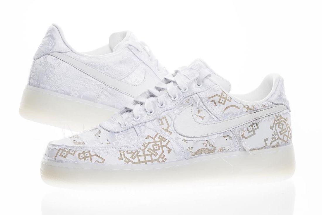 Clot X Nike Air Force 1 White On White 2018 Sneaker Freaker 6