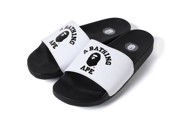 Bape Slide Sandal Collegiate White