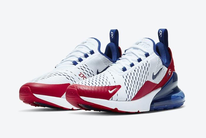 Nike Air Max 270 Red White Blue Pair