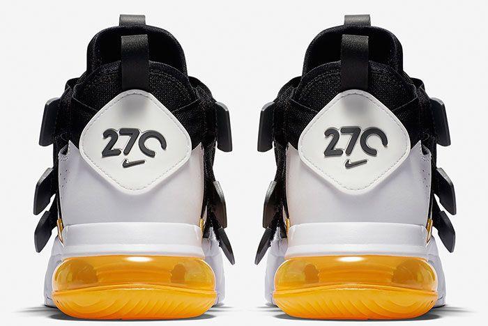 Nike Air Edge 270 Black White Gold Back