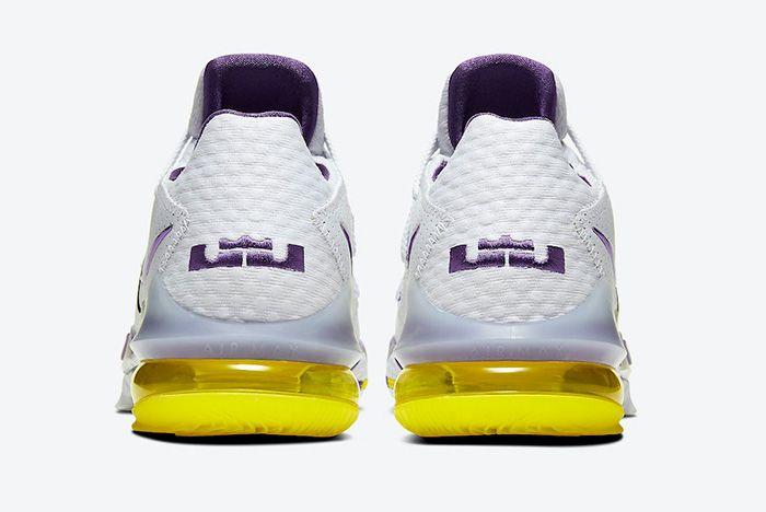 Nike Le Bron 17 Low Lakers Home Cd5007 102 Heel
