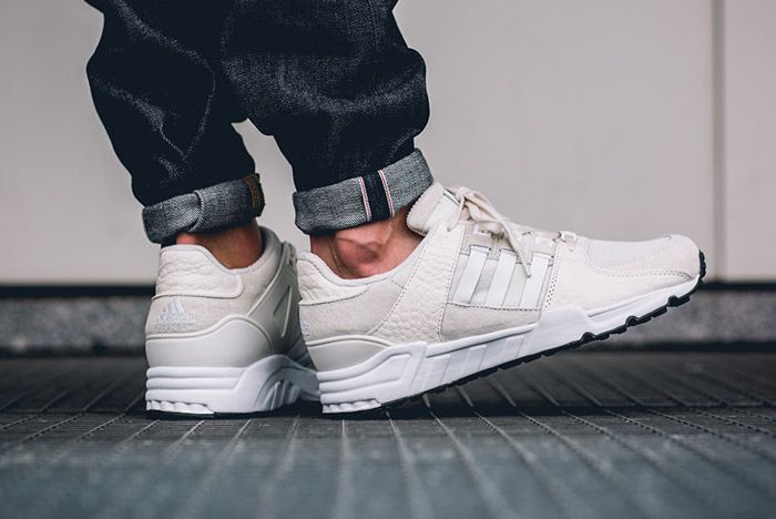 Adidas Equipment Support 93 Eqt Off White On Foot