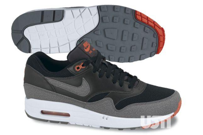 Nike Air Max 1 2013 Black Red Grey 1