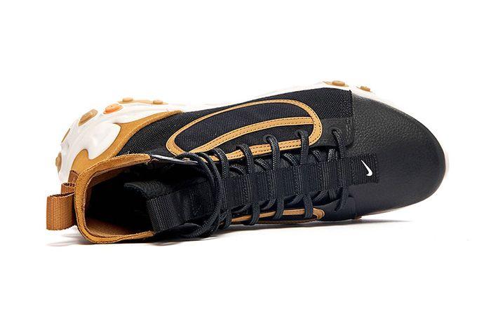 Nike React Ianga The10Th Black White Wheat Phantom Av5555 001 Release Date Top Down
