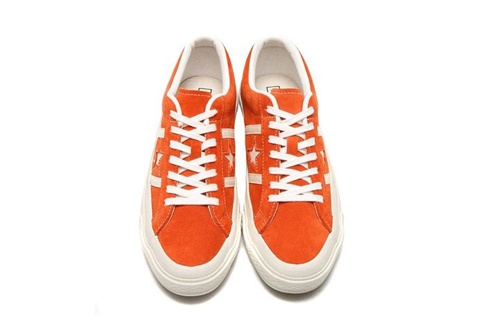Converse Star And Bars Suede Orange 1