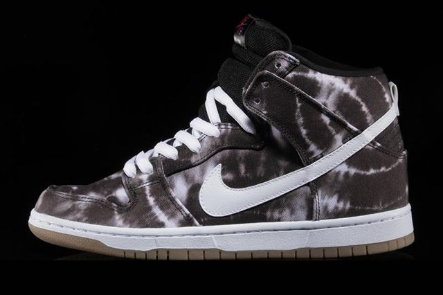 Nike Sb Dunk High Black White Tie Dye Thumb