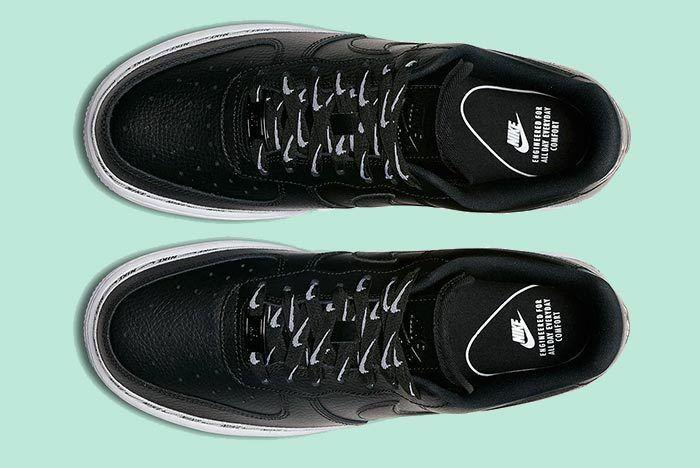 Nike Wmns Af1 Logos Black 3