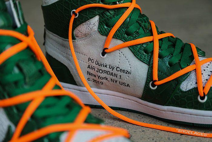 Ceeze Air Jordan 1 Custom Pine Green Off White Hero Shot9