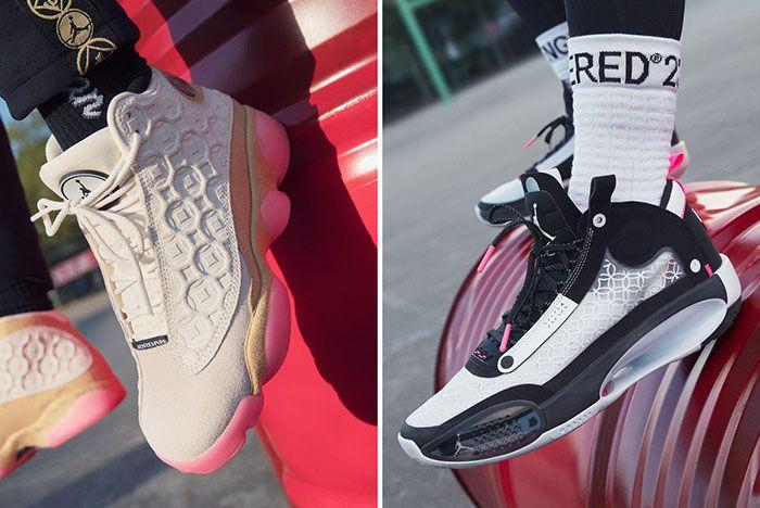 Nike Chinese New Year 2020 Rat Jordan Aj13 Aj34 On Foot