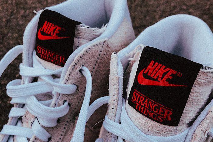 Stranger Things Nike Blazer Mid Starcourt Mall Tongue