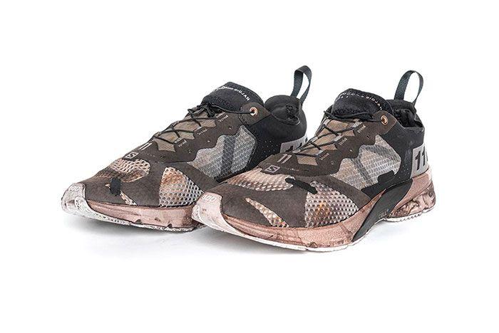 11 By Boris Bidjan Saberi X Salomon Spring Summer 2020 Footwear Borwn Low Lateral Three Quarter Angled Side Shot