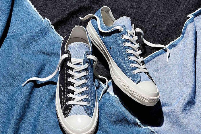 Converse Chuck 70 Renew Denim Split Back Top Low