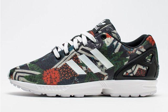 Adidas Zx Flux Womens Floral Geometric Print 1
